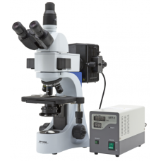 Upright laboratory fluorescence microscope Optika B-383FL